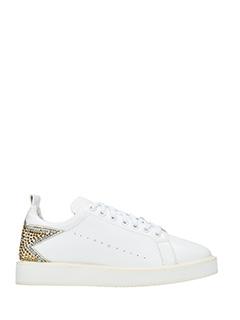 Lola Cruz-Sneakers in pelle bianca