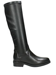 Lola Cruz-Stivali Battle in nappa elasticizzata nera