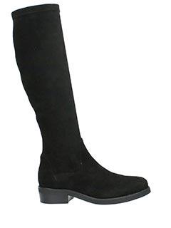 Lola Cruz-Stivali in camoscio elasticizzato nero