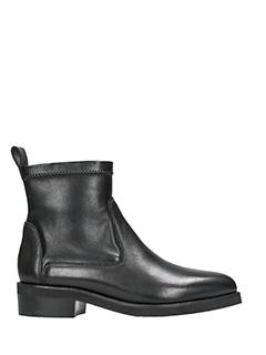 Lola Cruz-black leather combat boots
