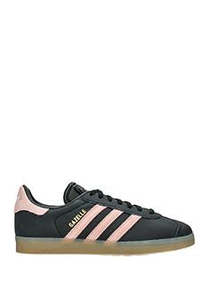Adidas-Gazelle w black leather sneakers