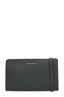 Michael Kors-Pochette Jet Set Travel Lg Crossbody in pelle nera