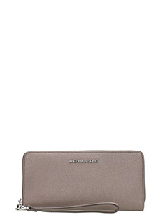 Michael Kors-taupe leather wallet