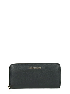 Michael Kors-black leather wallet