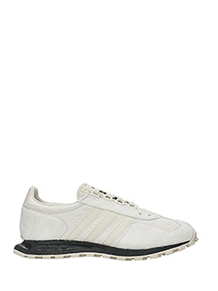 Adidas-Sneakers Racing 1 in pelle bianca