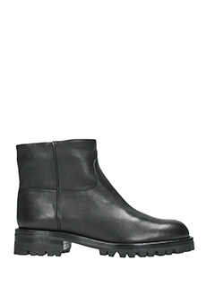 Helmut Lang-Anfibi Ankle Pull On in pelle nera