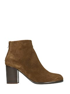 Helmut Lang-Tronchetti Ankle Zip in camoscio chestnut