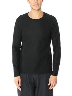 Attachment-Maglia in feltro di lana nera
