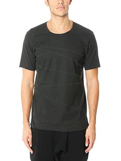 Attachment-T-Shirt in cotone nero