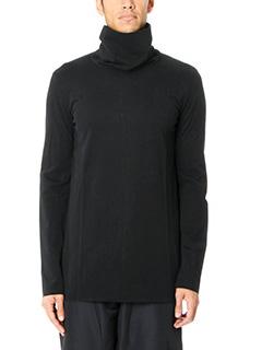 Attachment-Maglia collo alto in cotone nero