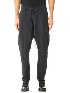 Attachment-Pantaloni in cotone nero