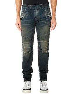 Balmain-Jeans Biker in denim wash blue