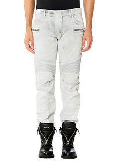 Balmain-Jeans Biker in denim grigio