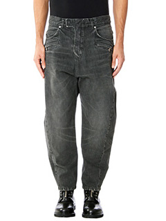 Balmain-Jeans Boyfriends in denim nero
