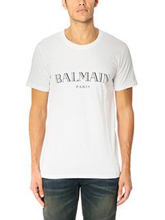 Balmain-T-Shirt in cotone bianco