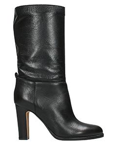 Julie Dee-black leather boots