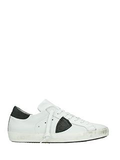 Philippe Model-Sneakers Classic in pelle bianca