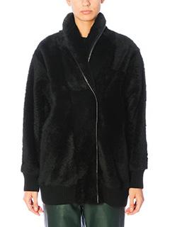 Drome-Giacca in pelliccia di agnello nera