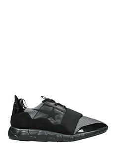 Golden Goose Deluxe Brand-Sneakers Haus Ridge in pelle e nylon nero