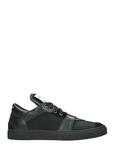 Helmut Lang-Sneakers Low Top in camoscio nero