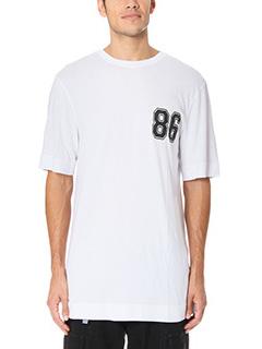 Helmut Lang-T-Shirt Oversize Varsity in cotone bianco
