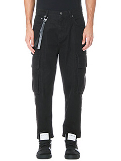 Helmut Lang-Jeans Cropped Cargo in denim nero