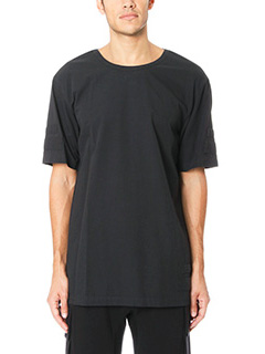 Helmut Lang-T-Shirt Oversize Tape in cotone nero