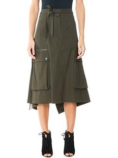 Helmut Lang-Smooth cotton green cotton skirt