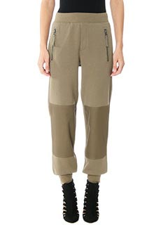 Helmut Lang-Pantaloni Knee Patch in cotone verde