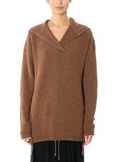 Helmut Lang-Hoodie cotuash leather color cotton knitwear