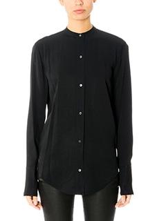 Helmut Lang-Back knot black viscose shirt