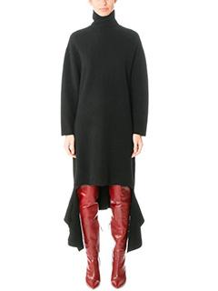 Balenciaga-black wool dress