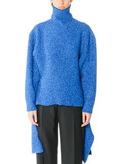 Balenciaga-blue polyester knitwear