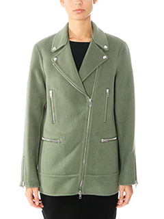 Alexander Wang-Chiodo Asymmetric Zip Jacket iin lana verde