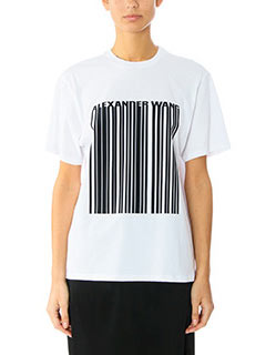 Alexander Wang-white cotton t-shirt