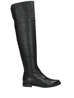 Lerre-Stivali in pelle nera