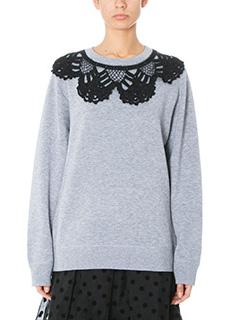 Marc Jacobs-Felpa Ls Sweatshirt in cotone grigio