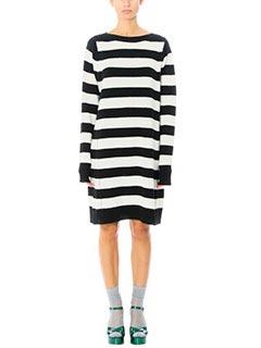Marc Jacobs-Vestito Ls Sewater in lana bianca nera