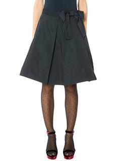 Marc Jacobs-Gonna Pleated Skirt in taffet� nero