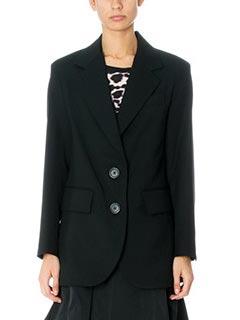 Marc Jacobs-Blazer Oversized in crepe di lana nera