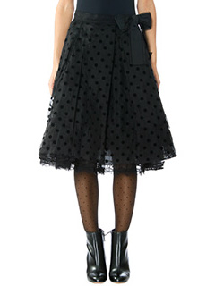 Marc Jacobs-Gonna Pleated in tulle pois nero