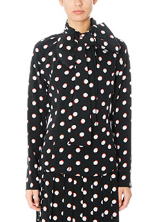 Marc Jacobs-Camicia Long Sleeved Shirt in seta nera bianca