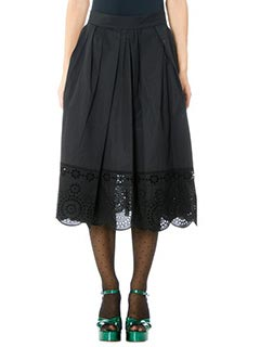 Marc Jacobs-Gonna Full Skirt in seta nera
