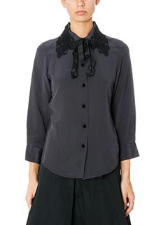 Marc Jacobs-Camicia Button Front in seta nera