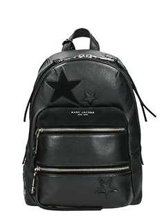 Marc Jacobs-Zaino Backpack Patchwork in pelle nera
