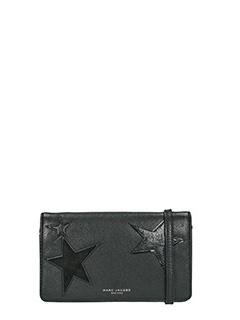 Marc Jacobs-Pochette Haze Wallet Strap in pelle nera
