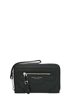 Marc Jacobs-Zip Phone Wristlet in pelle nera