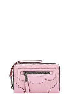 Marc Jacobs-Zip Phone pink leather wallet