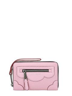 Marc Jacobs-Zip Phone Wristlet in pelle rosa