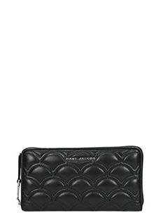 Marc Jacobs-Continental black leather wallet